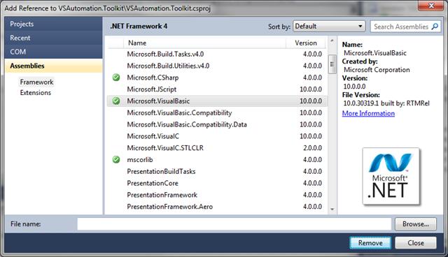 Automating Visual Studio 2010 – Part 1 – Sanders Technology